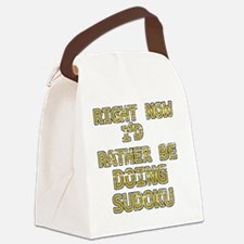 sudoku Canvas Lunch Bag