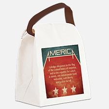 jan12_america_grunge Canvas Lunch Bag