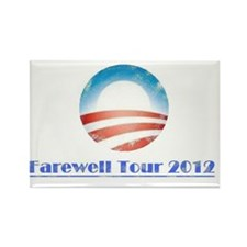Obama Farewell Tour 2 Faded Rectangle Magnet