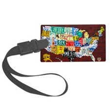License Plate Map of USA 2012 Ve Luggage Tag