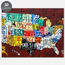License Plate Map of USA 2012 Version Puzzle