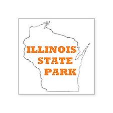 "statepark Square Sticker 3"" x 3"""