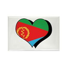 I Love Eritrea Rectangle Magnet (10 pack)