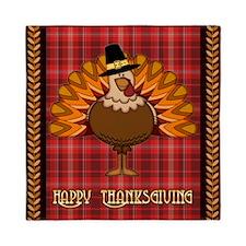 Happy Thanksgiving turkey Queen Duvet