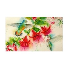 Hummingbirds in Fuschia Garden 2 Wall Decal