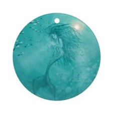 mermaid Round Ornament