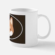 shibafacestickeroval Mug
