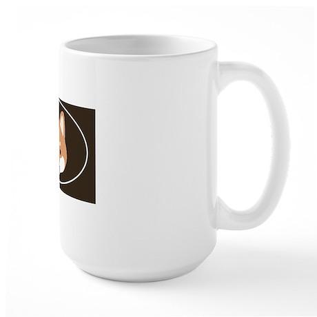 shibafacestickeroval Large Mug