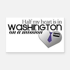 washington Rectangle Car Magnet