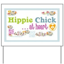 20x12poster-hippie-chick Yard Sign