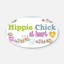 20x12poster-hippie-chick Oval Car Magnet