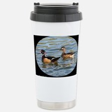 Male and Female Wood Ducks Stainless Steel Travel
