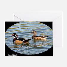 Male and Female Wood Ducks Greeting Card