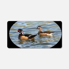 Male and Female Wood Ducks Aluminum License Plate