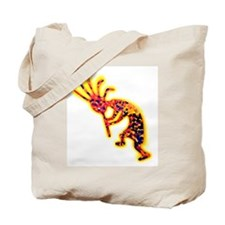 Electric Kokopelli Tote Bag