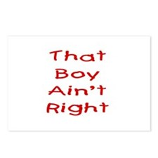 That boy ain't right! Postcards (Package of 8)
