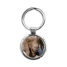 Baby Goat Round Keychain