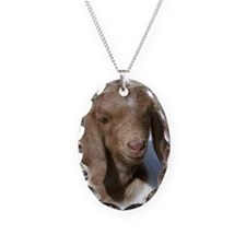 Baby Goat Necklace Oval Charm