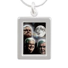 3wolfnoot_v3 Silver Portrait Necklace