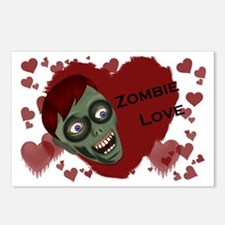 zombieLove_sticker_full Postcards (Package of 8)