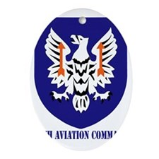 SSI - 11th Aviation Command with tex Oval Ornament