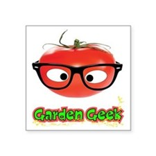 "garden geek Square Sticker 3"" x 3"""