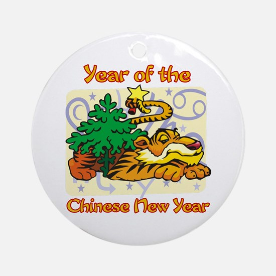 Chinese New Year Year of the Tiger Ornament (Round