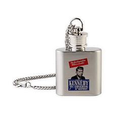 ART JFK for Congress Flask Necklace
