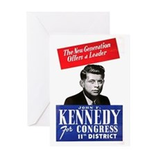 ART JFK for Congress Greeting Card