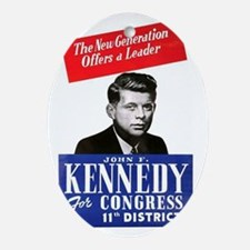 ART JFK for Congress Oval Ornament