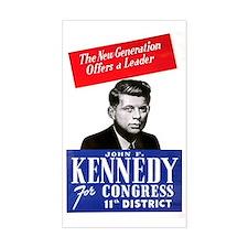 ART JFK for Congress Decal