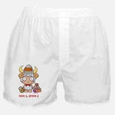 Knit 1 Drink 2 Logo Boxer Shorts