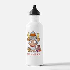 Knit 1 Drink 2 Logo Water Bottle