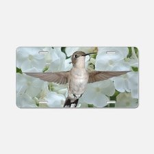 Hummer on Phlox Aluminum License Plate
