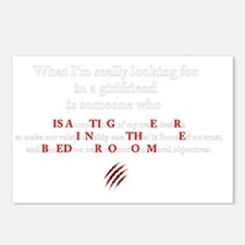 Tiger in the bedroom for  Postcards (Package of 8)