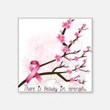 "breastcancerawareness Square Sticker 3"" x 3"""