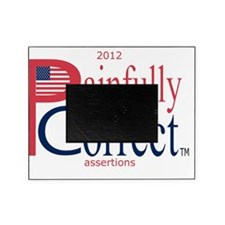 P  C, sm flag, on wht,5d,blue5-copy, Picture Frame