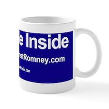 Dogs Against Romney bumber-I ride insid Small Mug