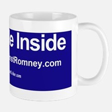 Dogs Against Romney bumber-I ride insid Small Small Mug