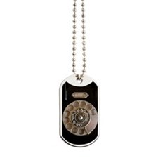 vintage rotary iphone Dog Tags