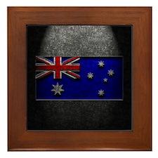 Australian Flag Stone Texture Framed Tile