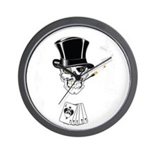 aces -n- eights dead mans hand - white  Wall Clock