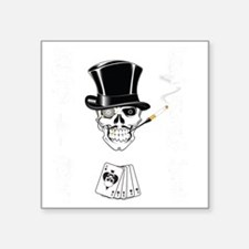 """aces -n- eights dead mans h Square Sticker 3"""" x 3"""""""