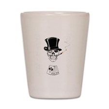 aces -n- eights dead mans hand - white  Shot Glass