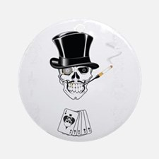 aces -n- eights dead mans hand - wh Round Ornament