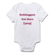 """Bulldoggers Get More Love"" P Infant Bodysuit"
