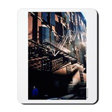 """Brick Red White Light Shades of Blue"" Mousepad"
