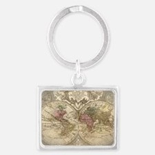 old map Landscape Keychain