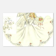 vintage bride picture Postcards (Package of 8)