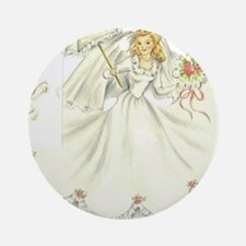 vintage bride picture Round Ornament